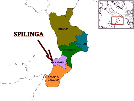 Map of Calabria esp Spilinga